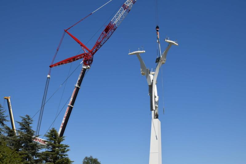 Montage de la ligne et des pylônes Téléphérique Téléo Toulouse Dsc_5571