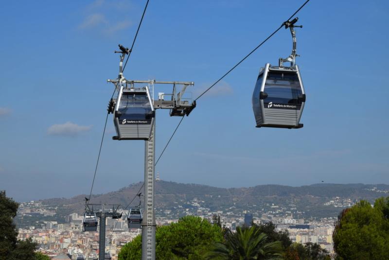 Télécabine débrayable 8 places (TCD8) Montjuïc - Barcelone Dsc_6163