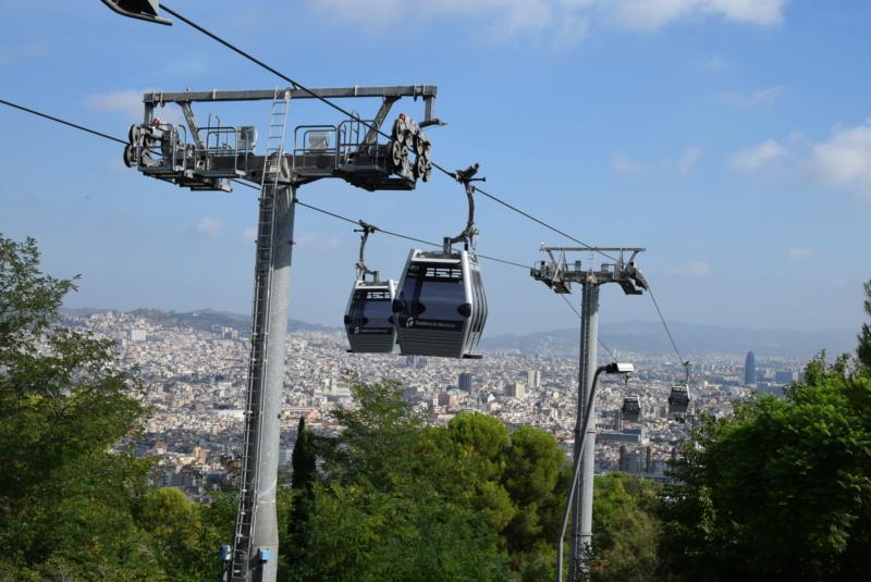 Télécabine débrayable 8 places (TCD8) Montjuïc - Barcelone Dsc_6169