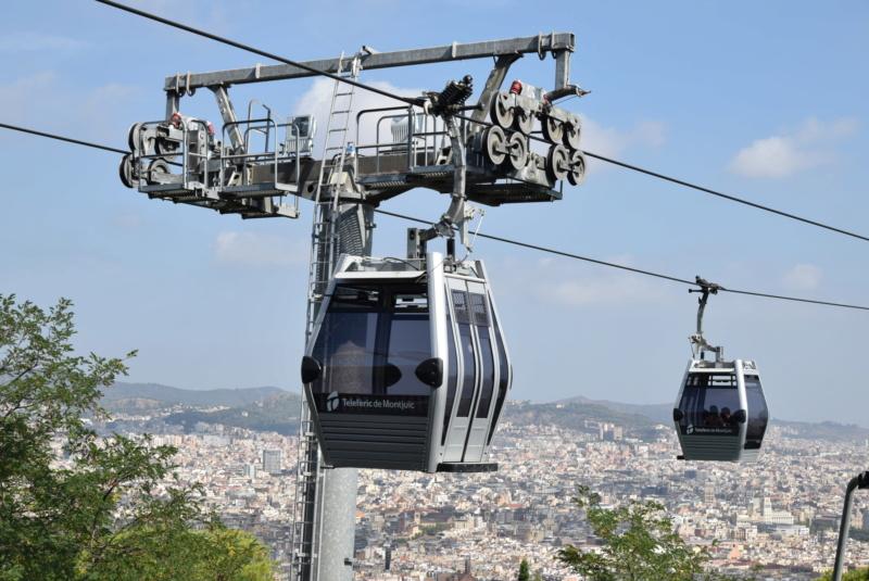 Télécabine débrayable 8 places (TCD8) Montjuïc - Barcelone Dsc_6174