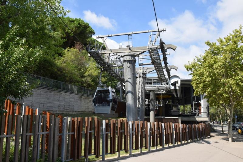 Télécabine débrayable 8 places (TCD8) Montjuïc - Barcelone Dsc_6190