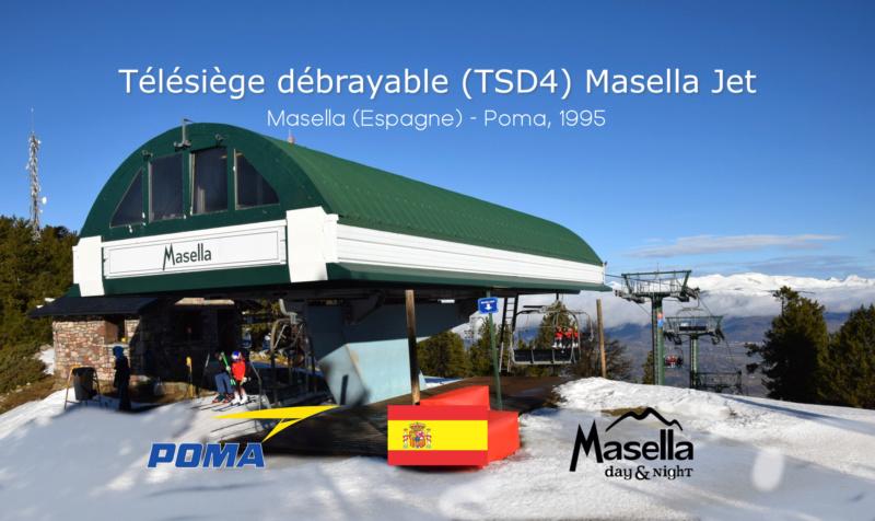 Télésiège débrayable 4 places (TSD4) Masella Jet - Telesilla G1-tcd40