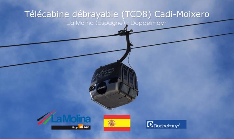 Télécabine débrayable 8 places (TCD8) Cadi-Moixero - Alp 2500 G1-tcd55