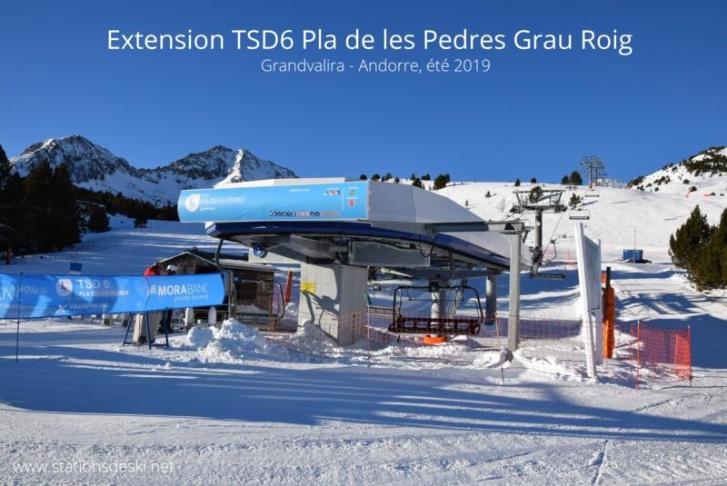 Extension, prolongation télésiège débrayable (TSD6) Pla de les Pedres Grau Roig – Grandvalira G1-tsd21