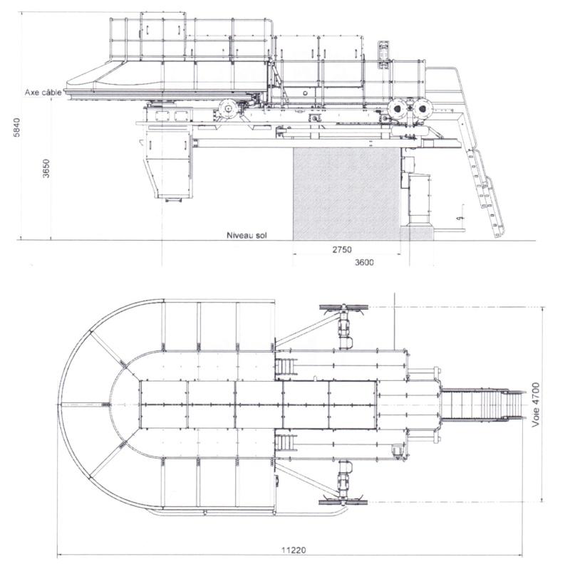 Télésiège fixe gamme MI7 GMM Motrice tension Gmmmi710