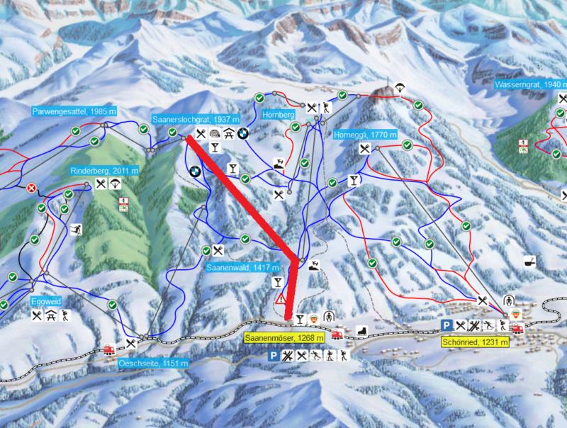 Télécabine débrayable (TCD10) Saanenmöser – Saanenwald - Saanerslochgrat Gstaad10