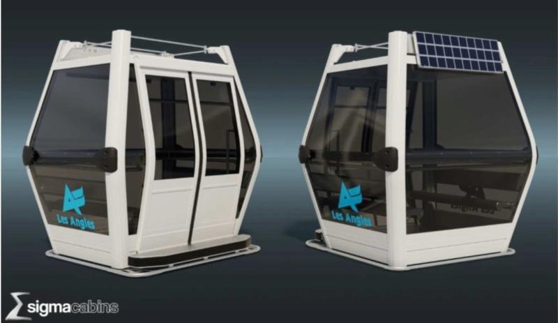 Remplacement des cabines TCD les Pèlerins - Les Angles Maquet10