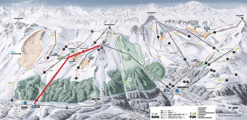 Télécabine débrayable 10 places (TCD10) Zinal - Sorebois - Espace Weisshorn Plan10