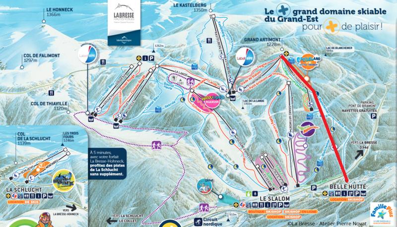 Télésiège fixe 4 places (TSF4) Belle Hutte Plan_l12
