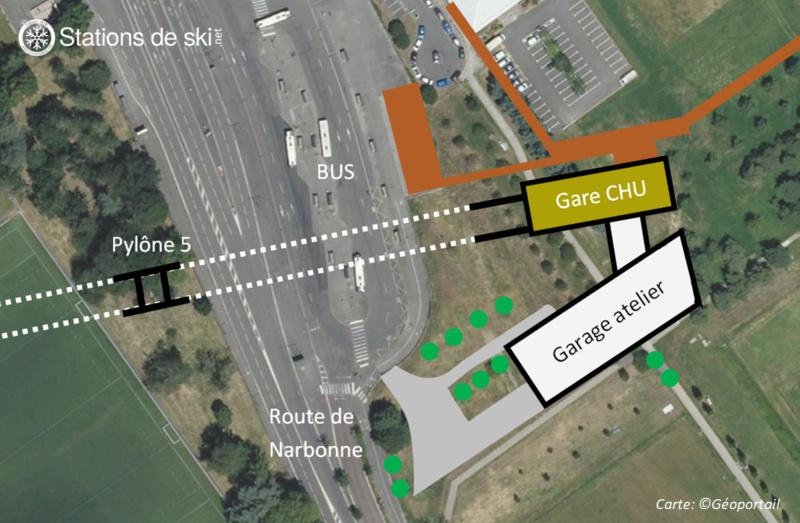 Variantes du tracé de la ligne - Téléphérique Téléo Toulouse Plan_s10