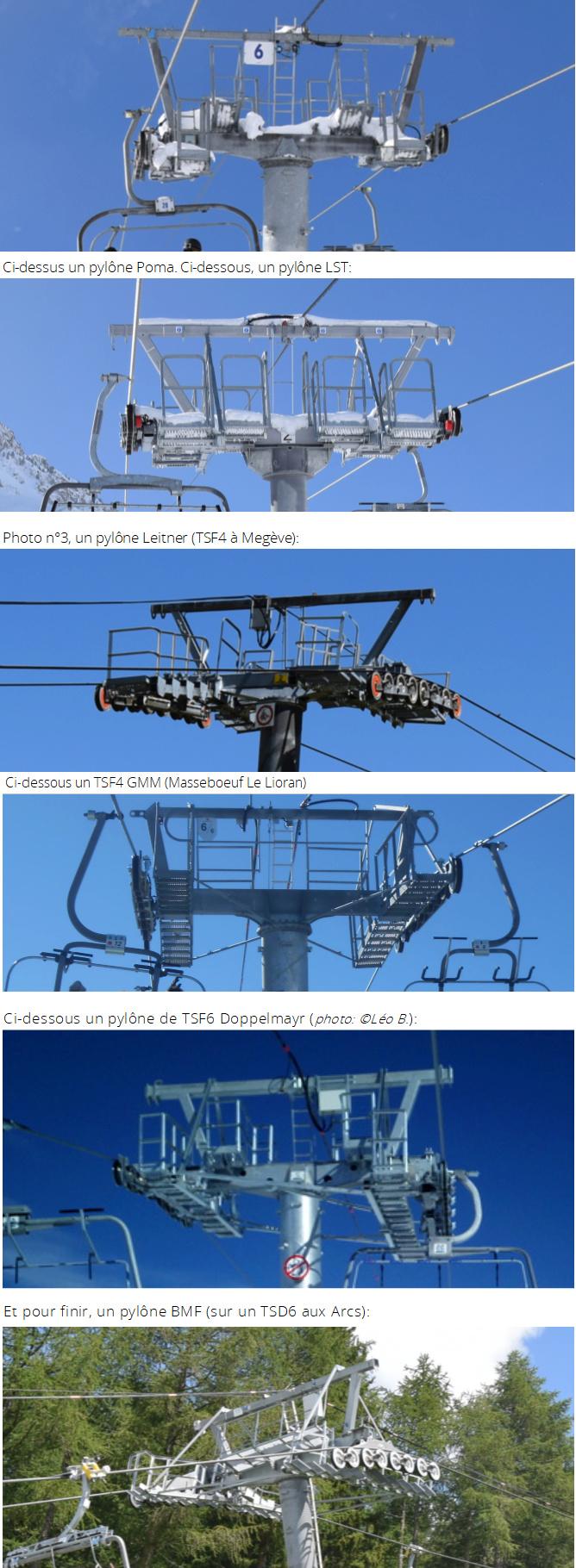 Les pylônes des télésièges fixes Pylone11