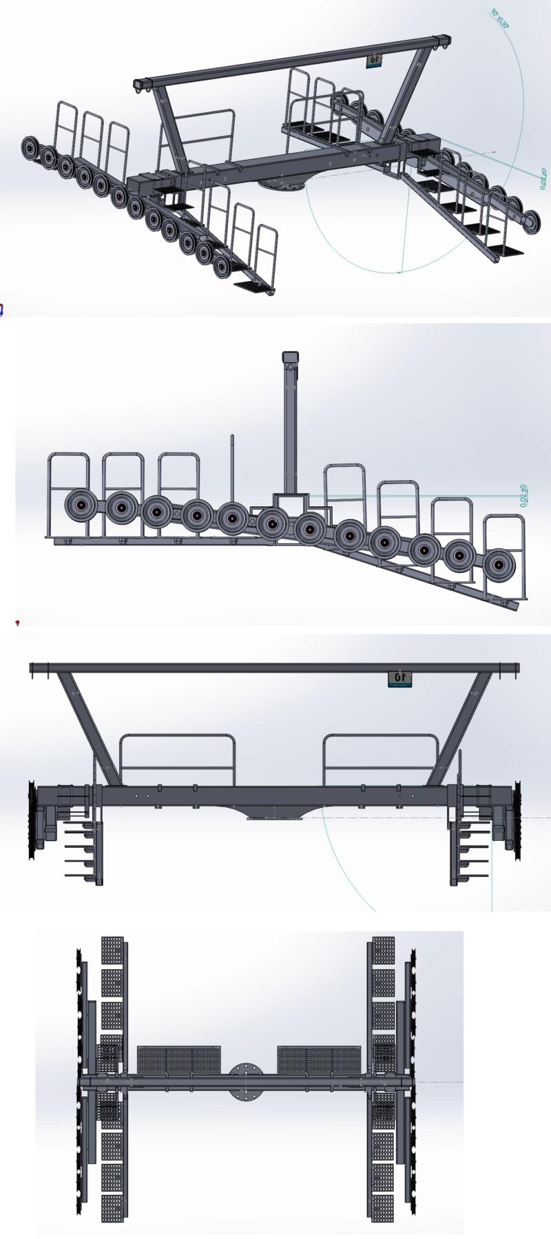 Dessins techniques & plans 3D remontées mécaniques Pylone12