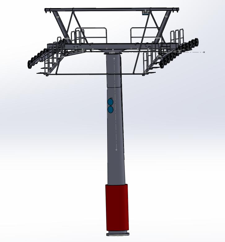 Dessins techniques & plans 3D remontées mécaniques Pylone14