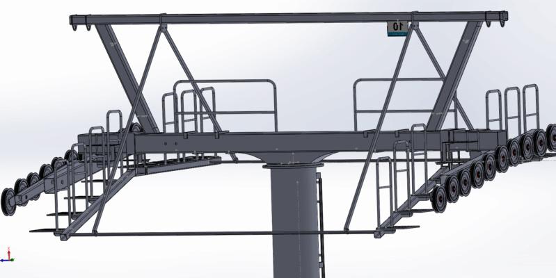 Dessins techniques & plans 3D remontées mécaniques Pylone15