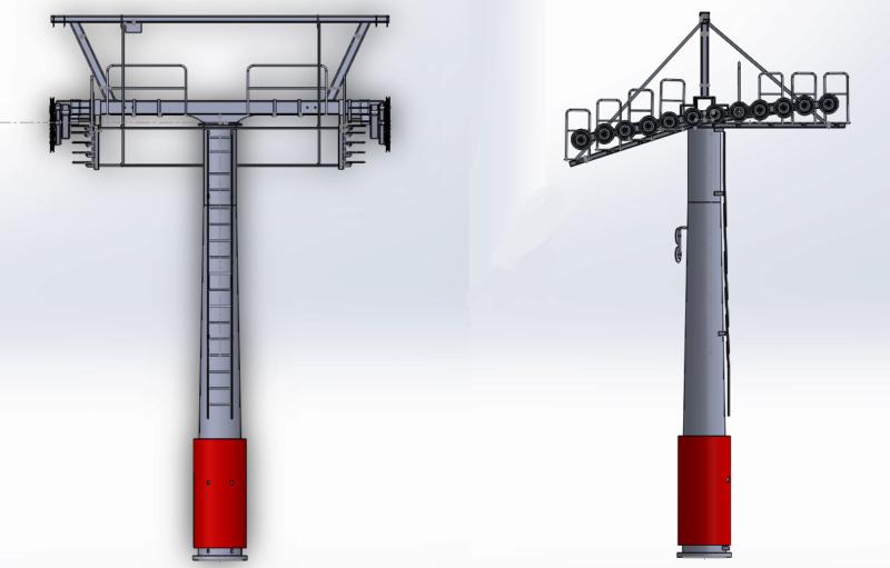 Dessins techniques & plans 3D remontées mécaniques Pylone17