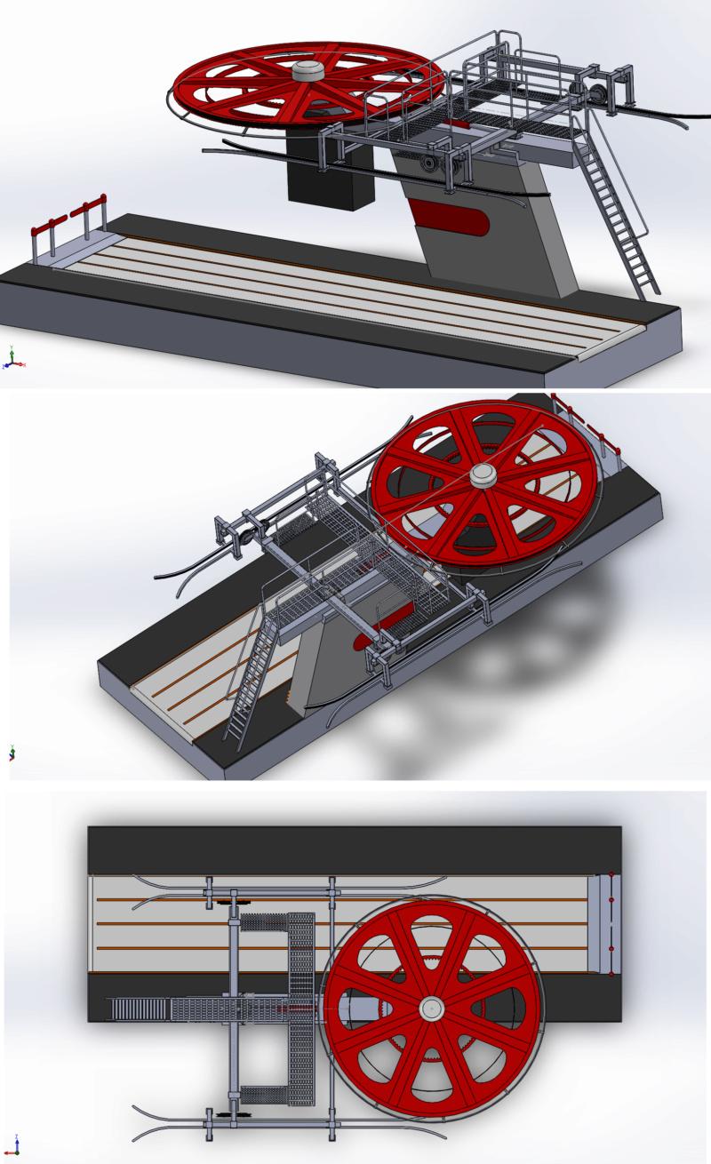 Dessins techniques & plans 3D remontées mécaniques Pylone19