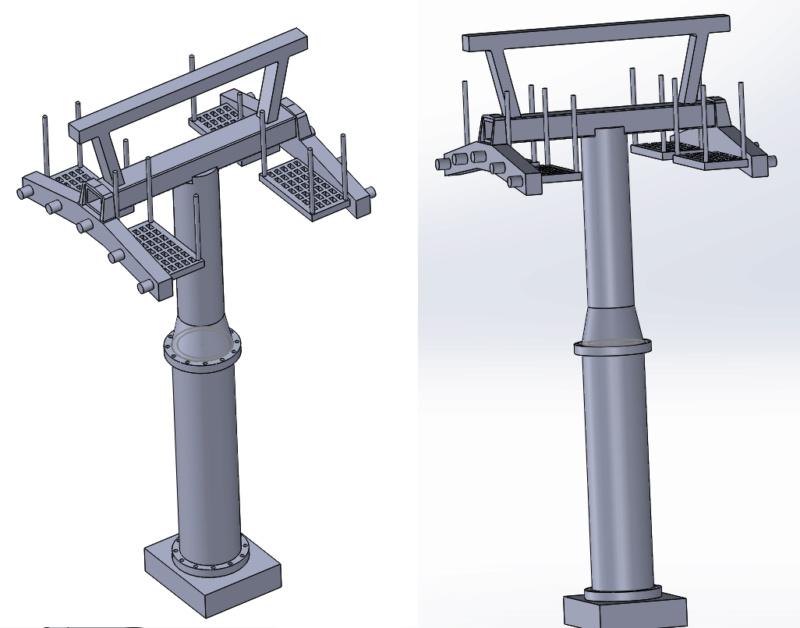 Impression 3D Pylône remontée mécanique miniature Pylzne10