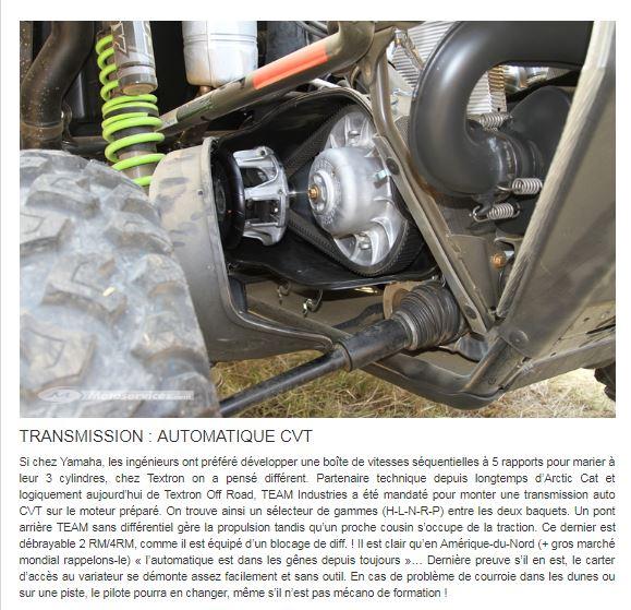 Nouveautés SSV 2019: Honda Talon 1000, Textron XX, Can Am Maverick Sport ... Textro12