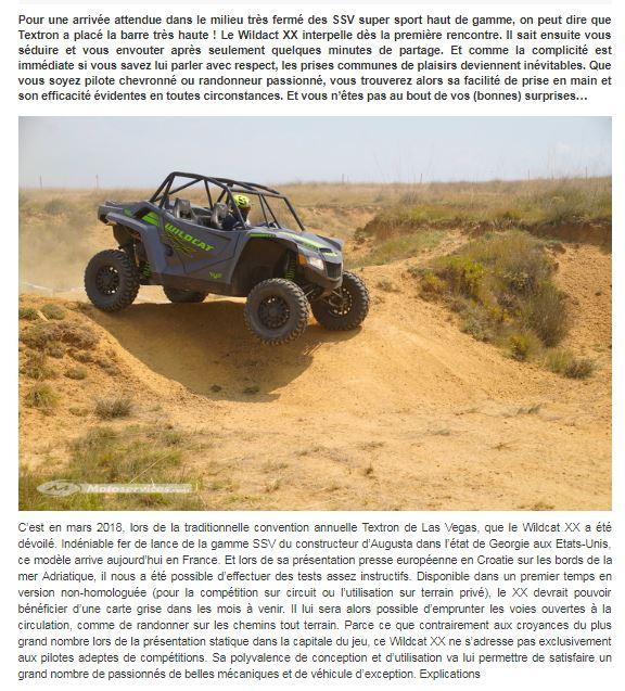 Nouveautés SSV 2019: Honda Talon 1000, Textron XX, Can Am Maverick Sport ... Textro17