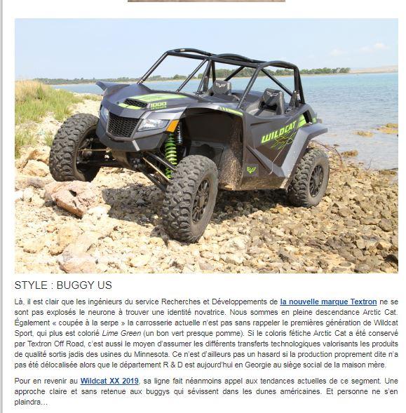 Nouveautés SSV 2019: Honda Talon 1000, Textron XX, Can Am Maverick Sport ... Textro18