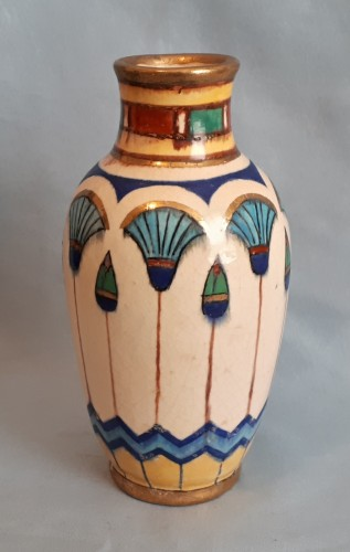 Egyptian polychrome lotus vase Water106
