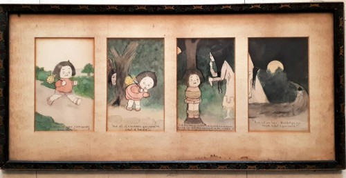 early 20th c watercolor storyboard Water127
