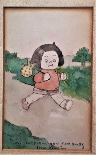 early 20th c watercolor storyboard Water128