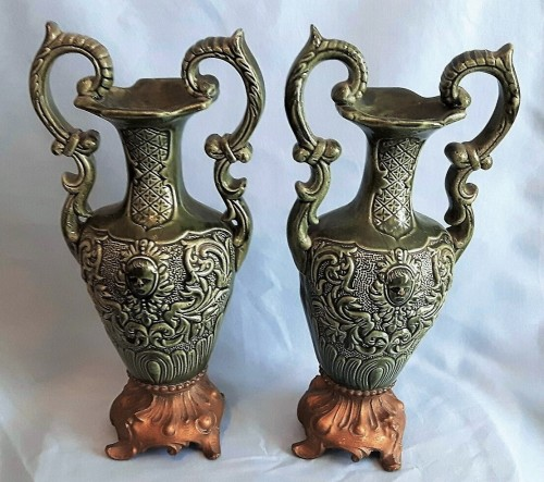 pottery spelter urns Waterm36