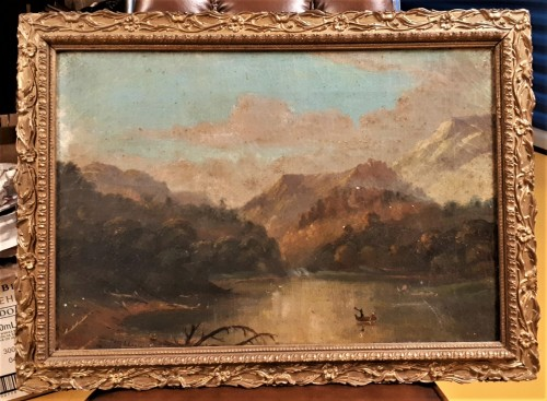 1875 landscape oil painting Waterm80