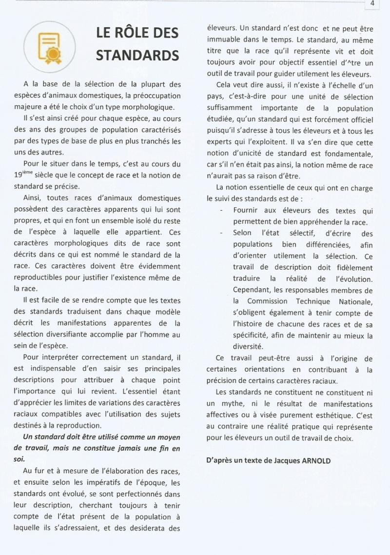 RÔLE DES STANDARDS ( d'après un texte de jacques ARNOLD). 310