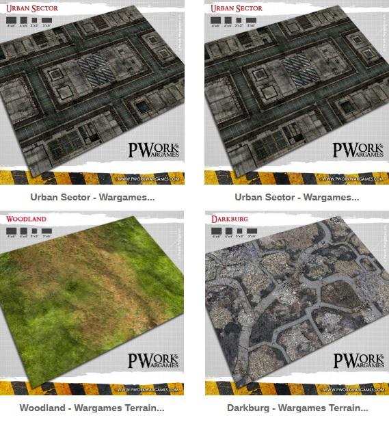 Commande tapis PWork Wargames (Warhammer) Terrai11