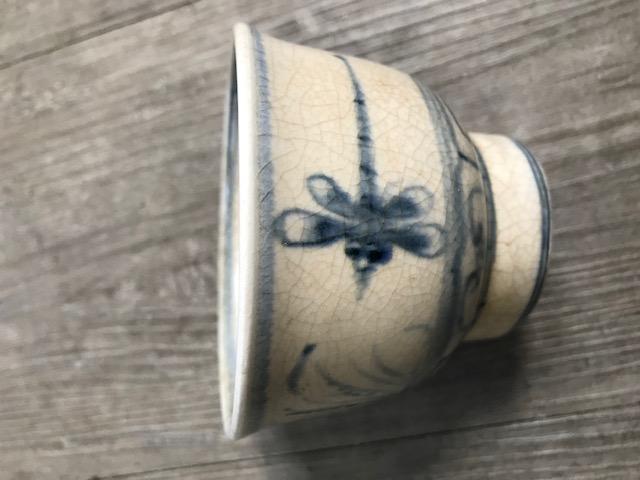 CRACKLE GLAZE TEA BOWL WITH DRAGONFLY Img_2310