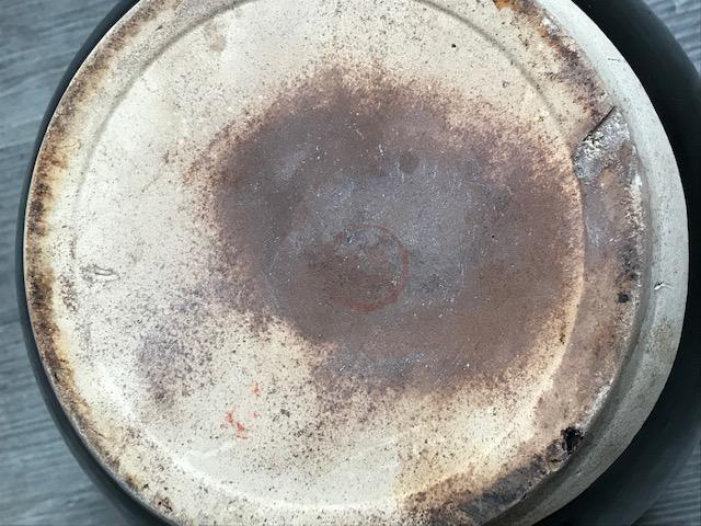 LARGE ORIENTAL BLACK GLAZED POTTERY HOT WATER KETTLE Img_3019
