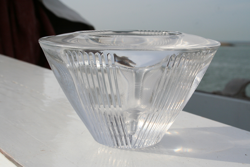 ART DECO PRESSED GLASS CANDLE HOLDER ? Img_5516