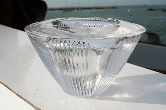 ART DECO MOULDED GLASS CANDLE HOLDER? Img_5519
