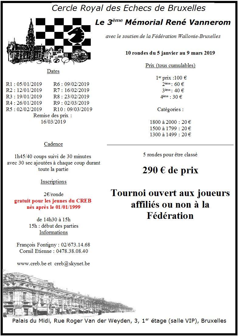 [3ème Mémorial René Vannerom] Du samedi 05/01/2019 jusqu'au samedi 19/03/2019 Vanner10