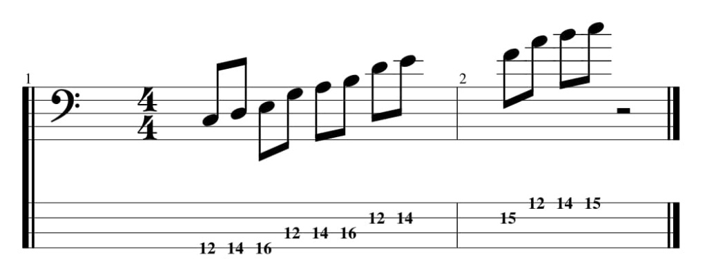 L'accordage en quintes (petite analyse) Cmajeu12