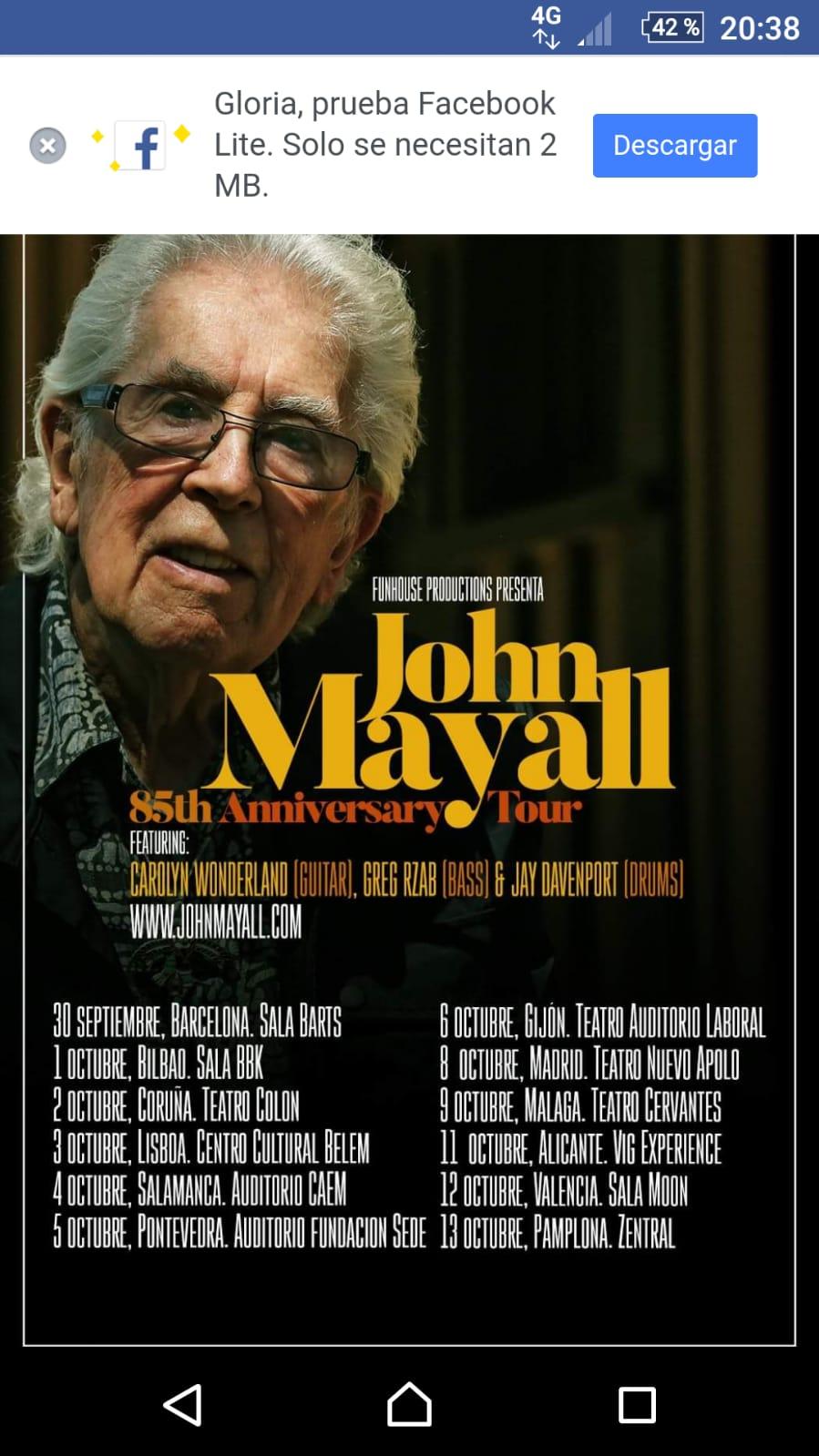 Jhon Mayall de gira por España Img-2013