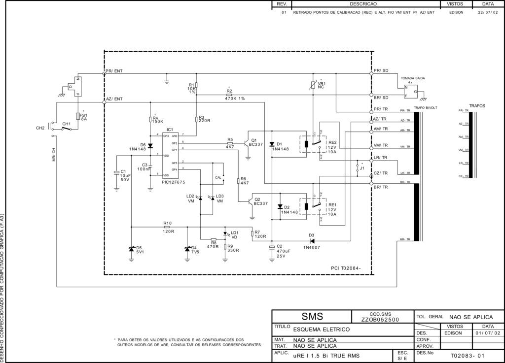 Estabilizador Microsol Sol 1000 1000VA 220V - Utilizar saída do auto-trafo para 127V Esq_es10