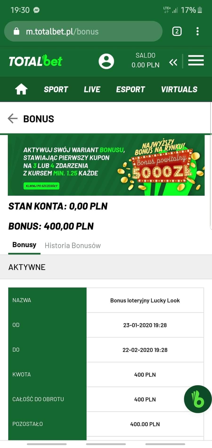 TotalBet 25 PLN za darmo bez depozytu - Page 10 Receiv10