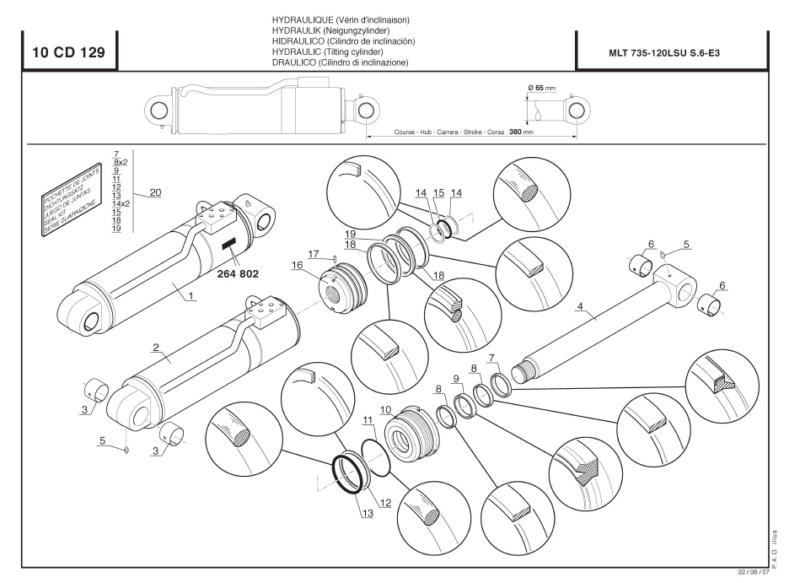 Pompe hydrau manitou 735 Cavage10