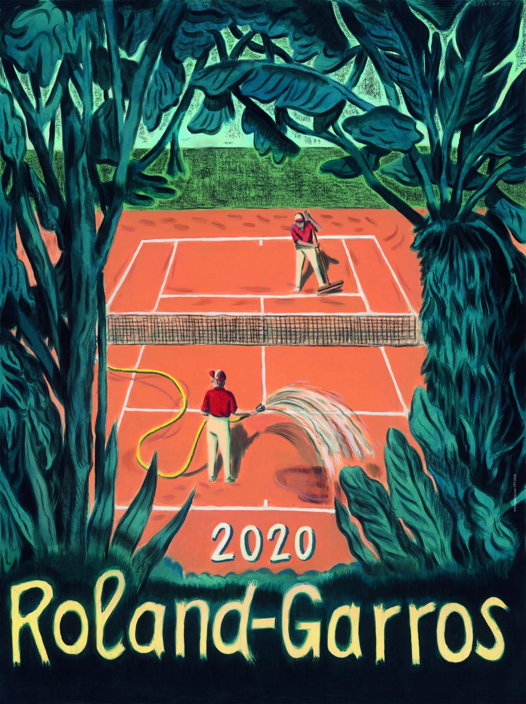 L'affiche de Roland-Garros 2020 est signée Pierre Seinturier Affich10