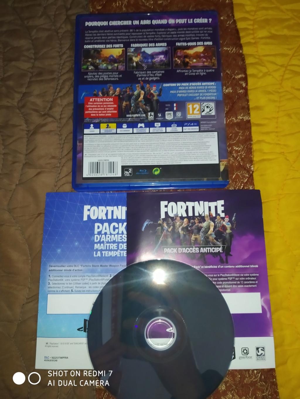 [60E] Fortnite ps4 édition physique FR plus deux disques promo ps4 neuf. Img_2045