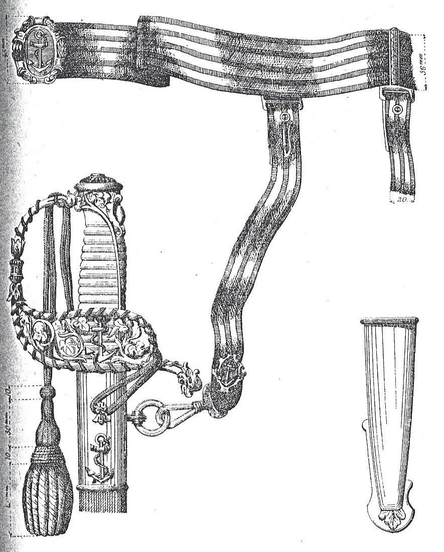 Ceinture d'officier d'infanterie mle 1882 fantaisie ou d'officier de marine ? Sabre10