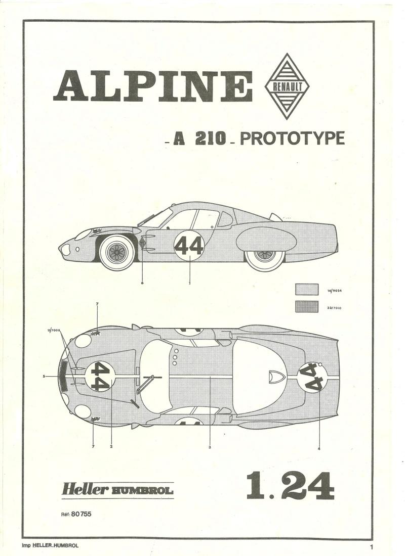 ALPINE A210 1/24ème Réf 80755 Alpine31