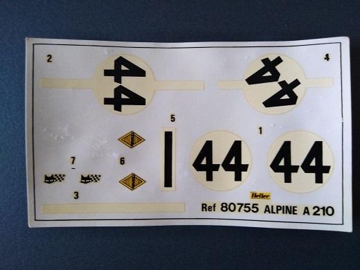 ALPINE A210 1/24ème Réf 80755 Alpine36