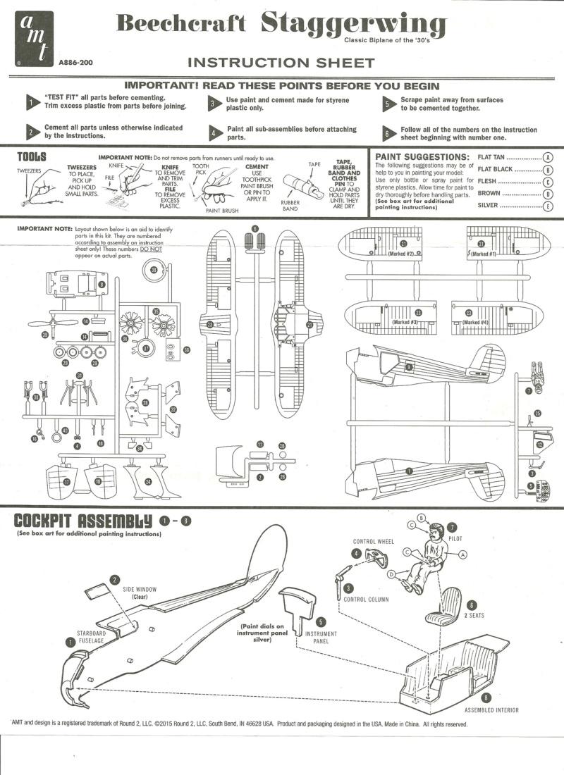 [AMT] Beechcraft-G17S Staggerwing 1/48  Beechc12