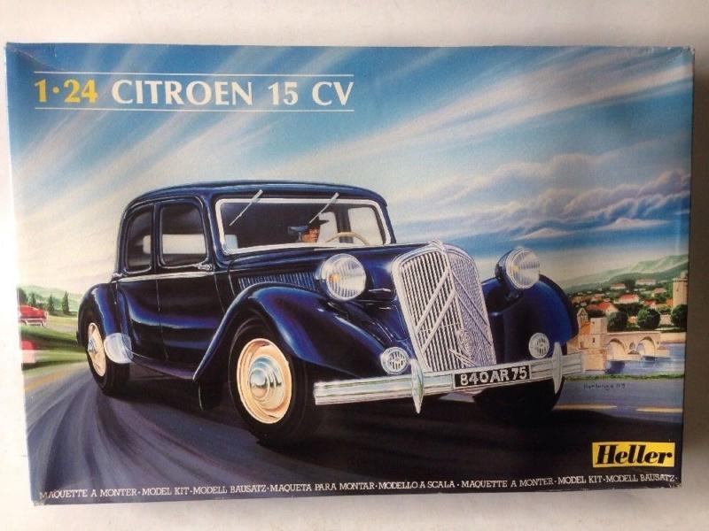 CITROËN 15 SIX  CYLINDRES traction avant 1/24ème Réf 763 Citroz35