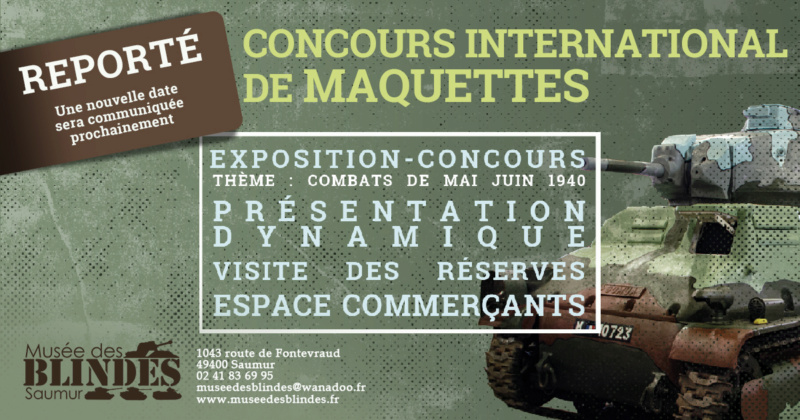 """Concours international de maquettes """"Saumur 2020""""     Report R_202010"""
