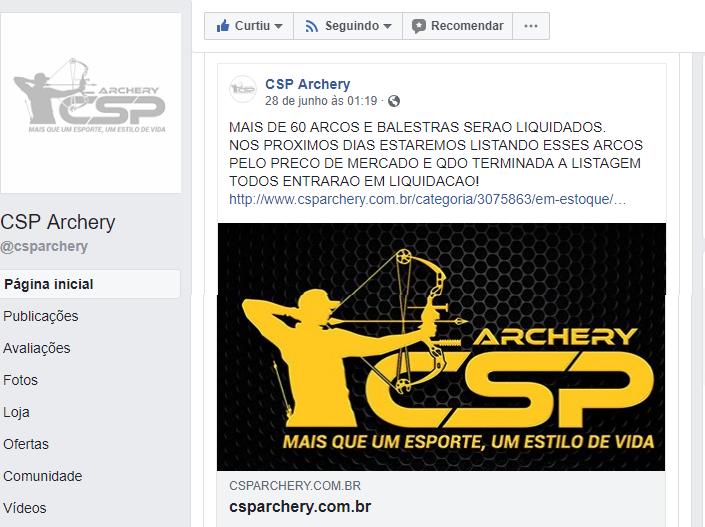 PROMOÇÃO NA CSP ARCHERY EM BREVE  Csp12
